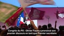 Premier discours d'O. Faure en tant que premier secrétaire du PS