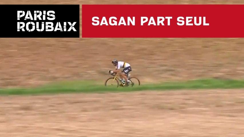 Sagan part seul - Paris-Roubaix 2018