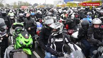 Vannes. Mille motards bravent la pluie contre le sclérose