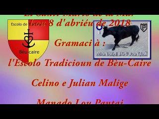 Escolo Tradicioun de Bèu-Caire - lou 8 d'abriéu de 2018