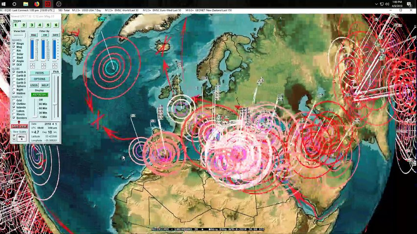 4/08/2018 -- Global Earthquake Forecast -- Pacific plate unrest spreads to USA + Europe