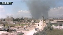 Siria: Civiles continúan huyendo por el corredor humanitario de Guta Oriental