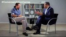"""Iglesias a Correa: """"Los medios pueden derrocar presidentes y convertir la mentira en verdad"""""""