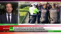 Cataluña: Tensión entre manifestantes y Mossos d'Esquadra en las inmediaciones del Parlamento
