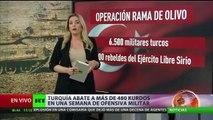 Turquía abate a más de 480 kurdos en una semana de ofensiva militar