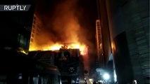 Un incendio en un edificio comercial de la India deja 15 muertos y varios heridos