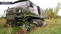 Un vehículo soviético propulsado sobre 'tornillos' gigantes no necesita carreteras