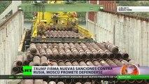 Trump firma nuevas sanciones contra Rusia, Moscú promete defenderse