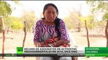Récord de asesinatos de activistas medioambientales en 2016