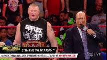 Roman Reigns unleashes on Brock Lesnar before WrestleMania- Raw, April 2, 2018 -Roman Reigns unleashes on Brock Lesnar before WrestleMania- Raw, April 2, 2018 Roman Reigns unleashes on Brock Lesnar before WrestleMania- Raw, April 2, 2018 -dailymotion