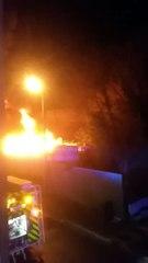 Important incendie à Recup 16  à Gond Pontouvre