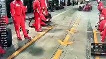 Kimi Räikkönen atropella a su mecánico en Bahrein