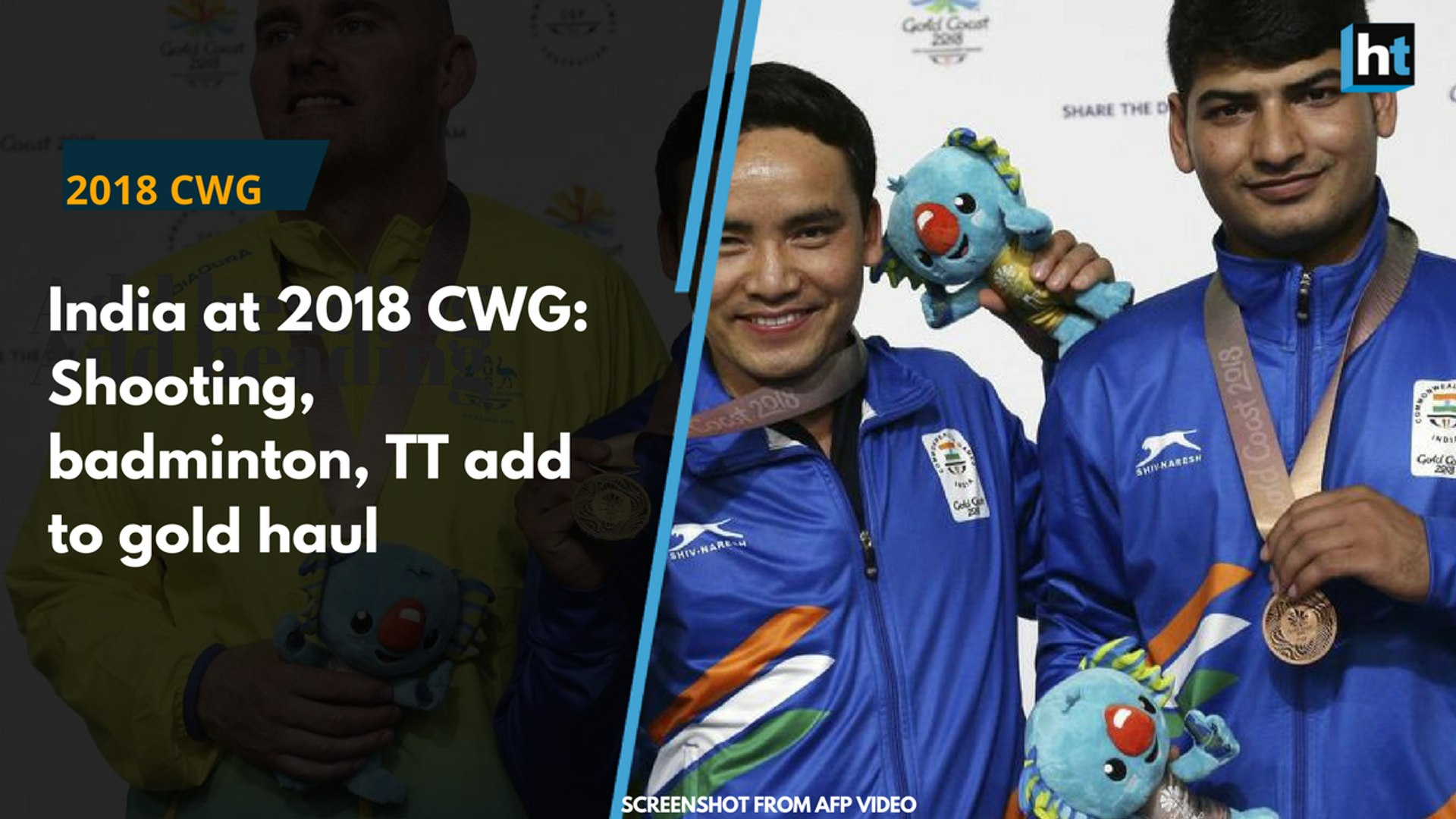 India at 2018 CWG: Gold medals in shooting, table tennis and badminton on day 5