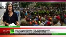 La oposición venezolana convoca una protesta con 'bombas sucias' en contra de la Policía