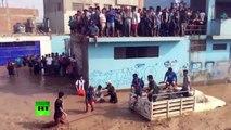 Continúan las operaciones de rescate en medio de las inundaciones en Perú