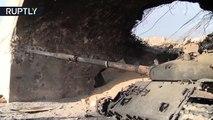 Así quedaron los tanques del EI tras perder la batalla por Palmira (Exclusiva de Ruptly)