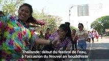Thaïlande: des éléphants lancent le festival de l'eau