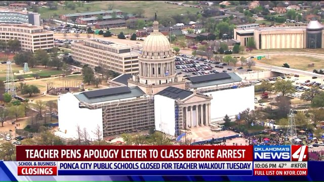 Oklahoma Teacher Confesses to Having Sex with Student, Even During Walkout