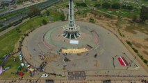 The Best - Pakistan Drone Aerial View of Minar-e-Pakistan (Drone Footage) HD