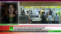 CNE paraliza la recolección de firmas para el revocatorio en Venezuela