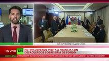 Putin cancela su visita a Francia en pleno aumento de la tensión diplomática