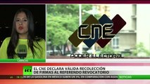 Venezuela: Autoridades validan el 1% de las firmas para el referendo revocatorio contra Maduro