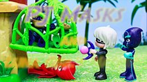 PJ Masks Luna Girl and Night Ninja Steal Gekko Mobile and Catboy Cat Car with Owlette Owl-Glider