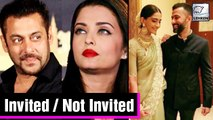 Sonam Kapoor Anand Ahuja's Tentative Wedding Guest List Out