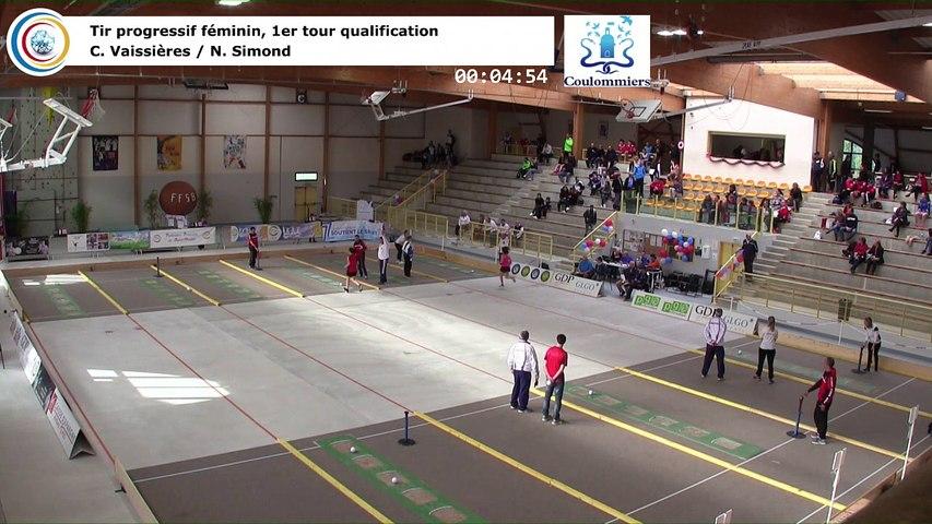 Premier tour de qualification, tir progressif féminin, France Tirs, Coulommiers 2018