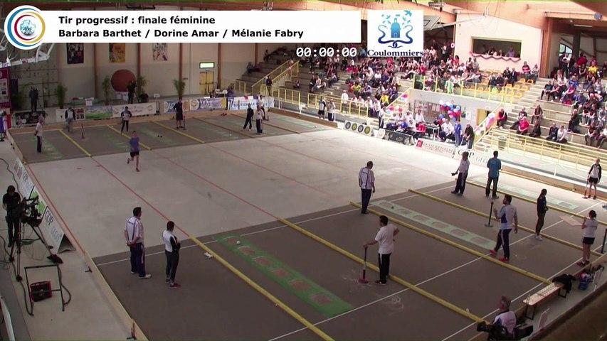 Finale tir progressif féminin et épreuve d'appui pour l'argent , France Tirs, Coulommiers 2018