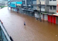 Ba Streets Covered by Floodwaters During Cyclone Keni