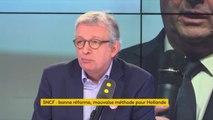 """Grève à la SNCF : """"Que François Hollande nous donne aujourd'hui des leçons de dialogue social, beaucoup de salariés vont écouter ça avec beaucoup de circonspection"""", réagit Pierre Laurent"""