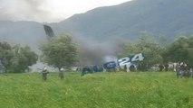 أكثر من 100 قتيل في تحطم طائرة عسكرية بالقرب من مطار بوفاريك العسكري