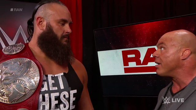 Braun Strowman & Nicholas relinquish the Raw Tag Team Titles_ Raw, April 9, 2018