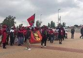 Supporters Sing in Honor of Winnie Mandela in Soweto