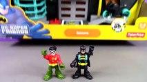 Batman And Robin Imaginext Batcave Stop Motion Adventure. DC Super Friends Imaginext Batman Toys