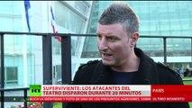 """""""El terrorista me miró a los ojos pero no me mató"""" - testimonio en París"""