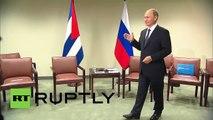 "Putin a Raúl Castro: ""Envíele saludos de mi parte al comandante Fidel"""