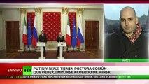 """Italia: """"Las sanciones contra Rusia crean problemas a todos los países"""""""