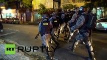 Brasil: Brutales enfrentamientos entre manifestantes y policías en Sao Paulo