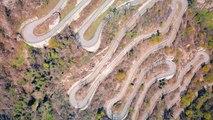 Les lacets de Montvernier filmés par drone