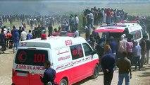 """مباشر من غزة: آلاف الفلسطينيين يتوافدون للمشاركة في """"مسيرة العودة""""Via Ruptly"""