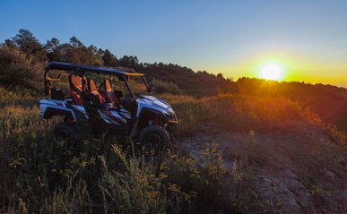 Beautiful View in the new Devil Anse System of Hatfield-McCoy Trails