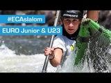 REPLAY : HEATS K1W & C2M second run - 2015 ECA JR & U23 Canoe Slalom Championships