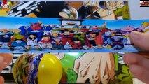 Three Dragon Ball Surprise Egg opening with DBZ Comic Book Son Goku Gohan Buu
