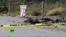 PRIMERAS IMÁGENES: Hallan 11 cuerpos decapitados y quemados en México