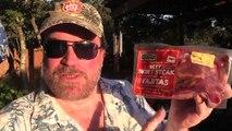Fajitas on the Kamado Joe - HEB Mi Comida Fajita Meat Review