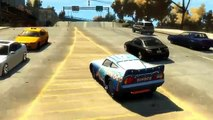 Cars Dinoco McQueen Eighteen jumps springboards Jumps Off Rood game gta 4