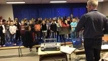 Des élèves de l'école Delamare enregistrent un CD