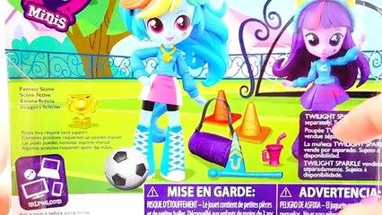My Little Pony Mini Dolls Playset - Rainbow Dash School Pep Rally - Apple Jack School Dance